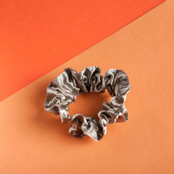 Серебряная резинка для волос Z.Kudrina